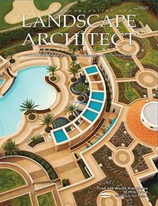 Bruce howard associates landscape architects site planners landscape architect magazine cover thecheapjerseys Choice Image
